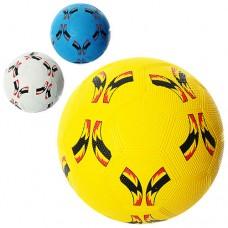 МЯЧ ФУТБОЛЬНЫЙ VA-0024, размер 5, резина Grain, 350г, сетка, игла для накачивания мячей, в кульке, 3 цвета, 30 шт/ящ