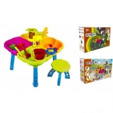 Стол песочный с набором, пасочками, стульчиком, 58*52h 01-121