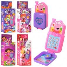 ТЕЛЕФОН 1601-2-3-4-5, размер телефона 10-5-3см, шнурок, 5 видов , 5, 5-14-3, 5 см, 360 шт/ящ