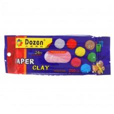 Масса для лепки - исскуственная глина, 250 гр, цвет желтый, красный, голубой, зеленый, терракотовый, белый