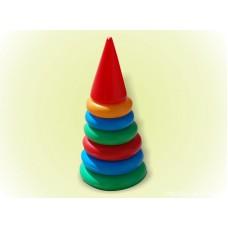 Пирамидка (25 см)(6 колец) 017